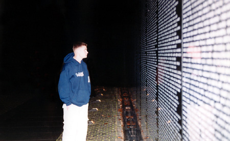 AJ at The Wall in DC