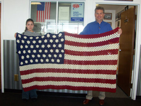 knitted flag