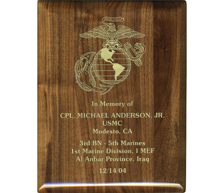 Marine Club Memorial Plaque