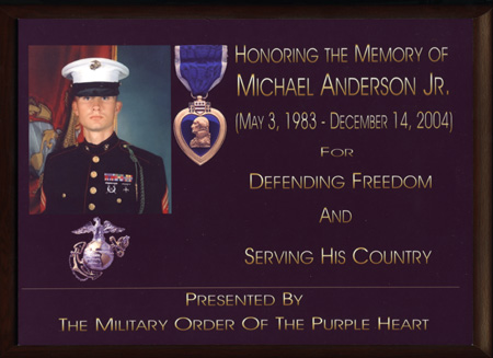 The Military Order of the Purple Heart Plaque